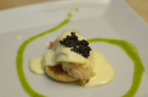 Lobster Eggs Benedict with Caviar
